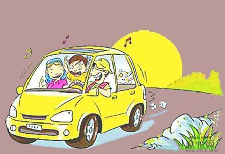 某日,张三在山间小路开车,正当他悠哉地欣赏美丽